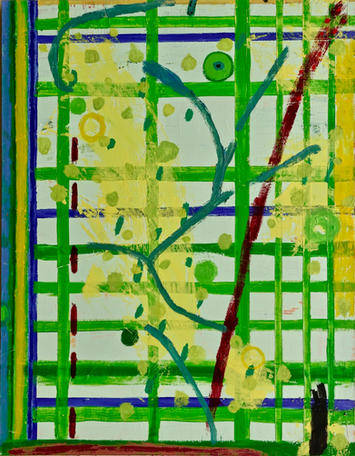 "Green Gate 58 x 45 x 1.5""  oil on canvas 2020"