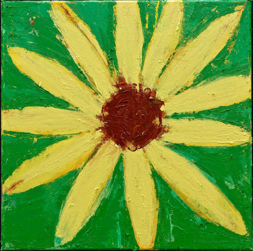 "Sunflower  20 x 20 x .75"" oil on canvas      2020"