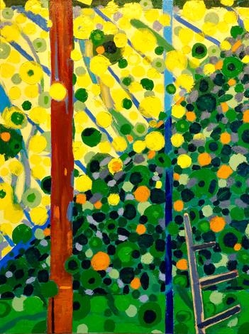 """Ridge    40 x 30""""     oil on canvas   2020"""