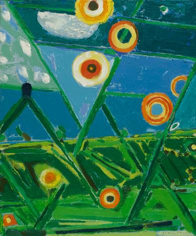 "Green Ridge    24 x 20 x .75"" oil on canvas 2020"