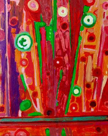 "Grazing    30 x 24 x .75""     oil on canvas    2020"