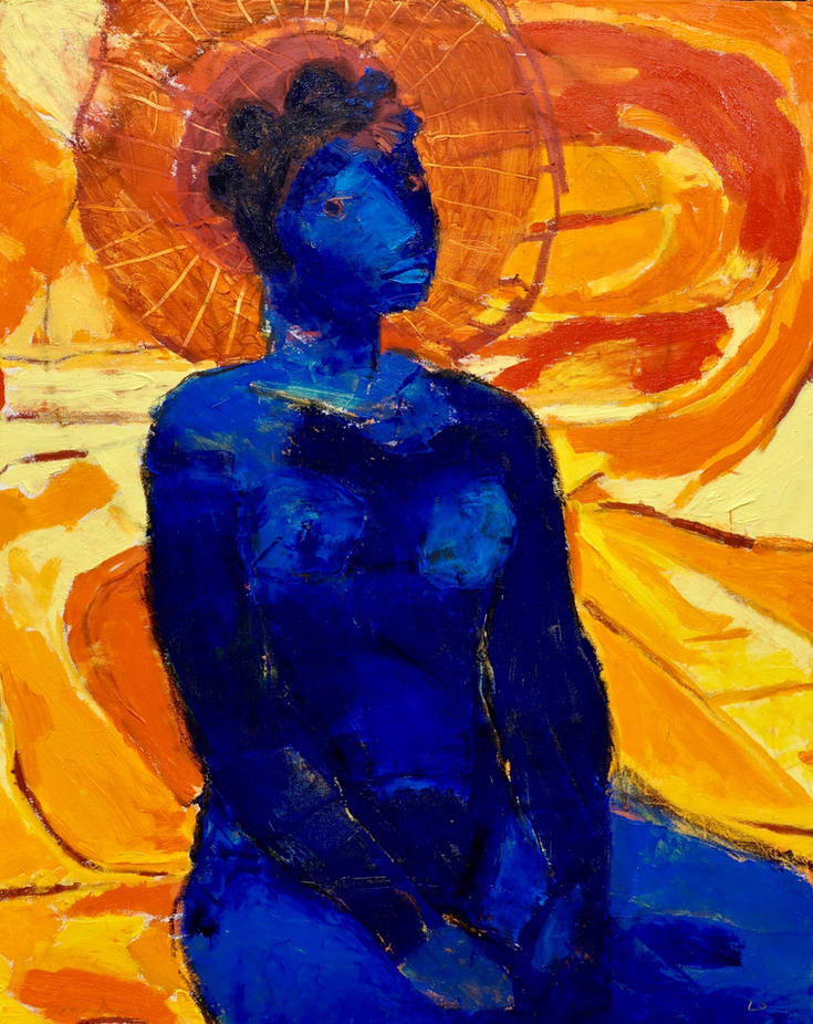 Blue Girl 30 x 24 x .75  oil on canvas 2