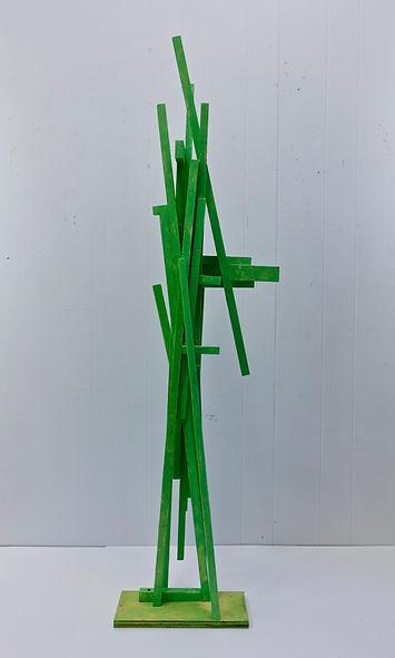 """Mantis   55 x 16 x 5""""    wood, paint  2020"""