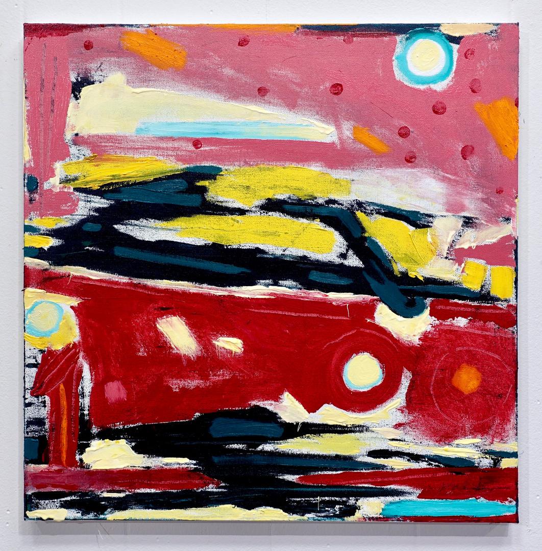 "Speeding     20 x 20""    oil on canvas   2020"
