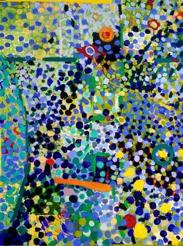 Reef  40 x 30 x .75_  oil _ canvas. 2021