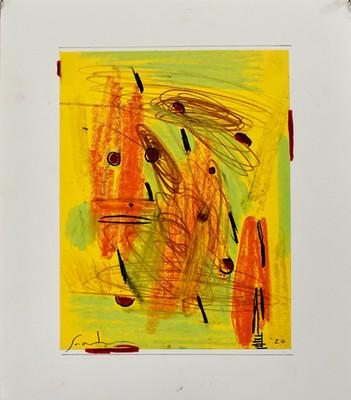 Yellow Witness 15 x 13_      pastel, gre
