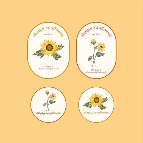 Sleepy Sunflower Full Branding
