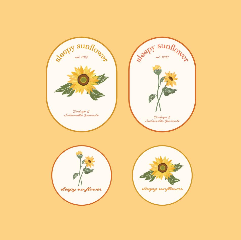 Sleepy Sunflower Full Branding