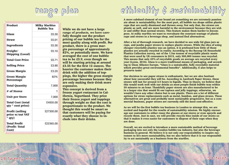 range plan & ethicality and sustaibility