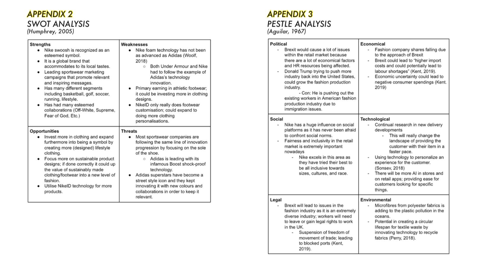 Appendix 2 & 3