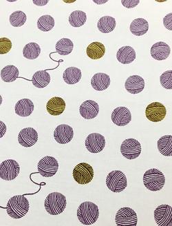 """Textile """"毛糸玉ころころ"""" © mina chape"""