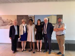 Reportage de LMTV sur la venue d'Hamida REZEG, 1ère vice-présidente de la Région Ile-de-France e