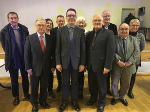 Félicitations à M. François Boussard, Président de la Communauté de communes Sud-Sarthe
