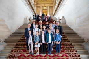 Les CMJ de Saint Saturnin et La Suze en visite au Sénat