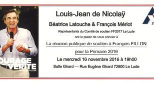 Réunion de soutien à François FILLON