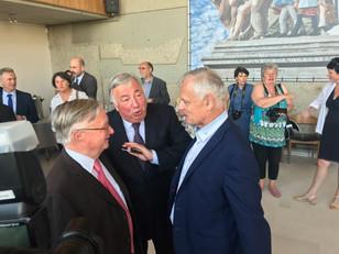 Visite du Président du Sénat à Allonnes (72) pour parler politique de la ville