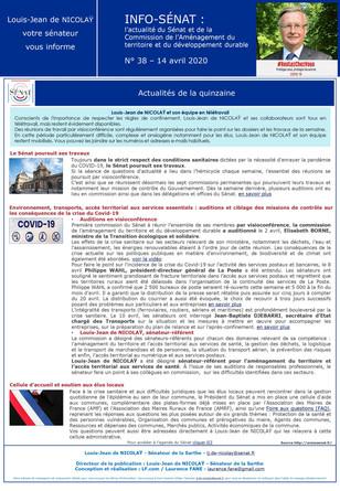 Info-Sénat / Commission Aménagement du Territoire et du Développement Durable N° 38