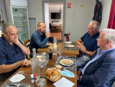 Déjeuner avec les maires de Dollon, Le Luart et Semur-en-Vallon