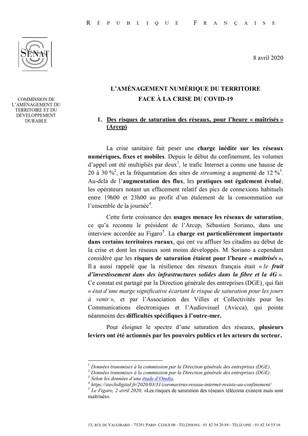 L'aménagement numérique du territoire face à la crise du COVID-19