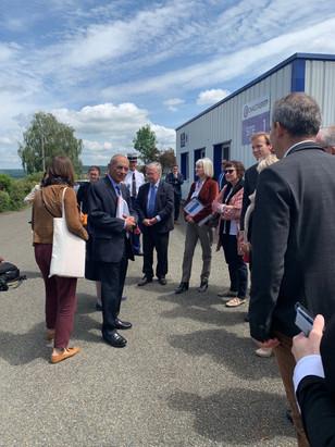 Visite de Madame la Ministre de la cohésion des territoires Jacqueline GOURAULT en Sarthe
