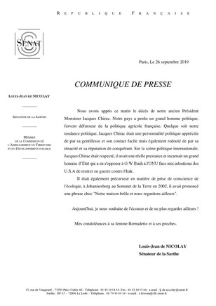 Disparition de J. Chirac