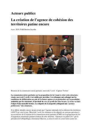Agence Nationale de la Cohésion des Territoires : quel gâchis !