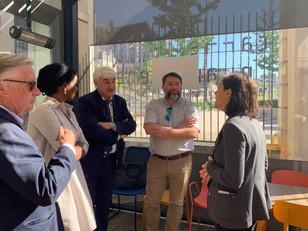 Visite de Mme Hamida REZEG, 1ère vice-présidente de la région Ile-de-France en charge du tourisme po