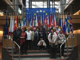 En visite au Parlement Européen avec Mme Sander (eurodéputée), Mme Keller (sénatrice) et M. Kern (Sé