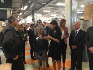 Visite avec Christelle Morançais du Lycée St Joseph