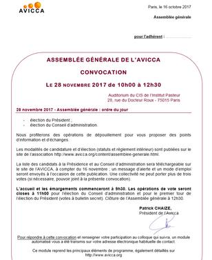 Ré-élection à la vice présidence de l'AVICCA