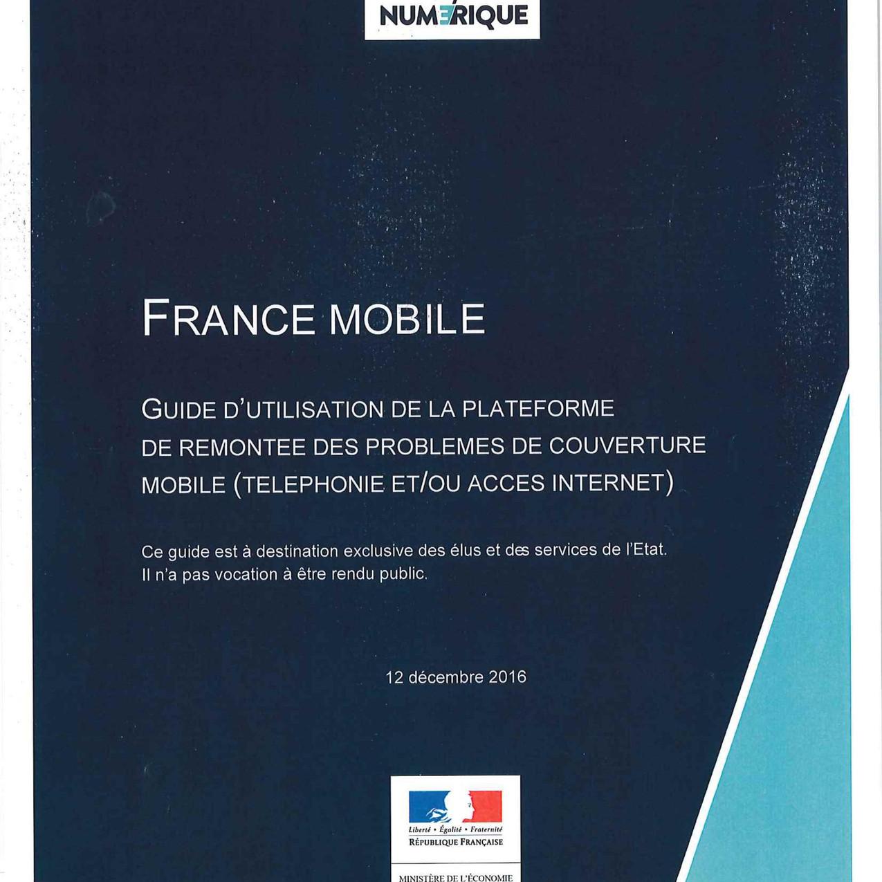 Guide d'utilisation France Mobile