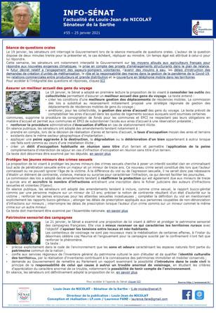 Lettre info sénat 2 (Janvier 2021)