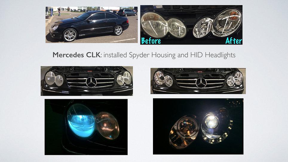 Spyder Headlight Housing and HID Headlights