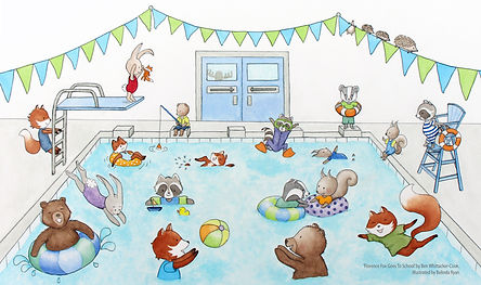 Pool Party Scene from Florence Fox Goes To School by Ben Whittacker Cook
