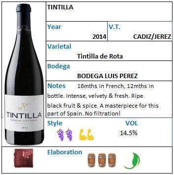 TINTILLA Bodegas Luis Perez tintilla de