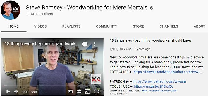 Steve Ramsey - Woodworking for Mere Mor
