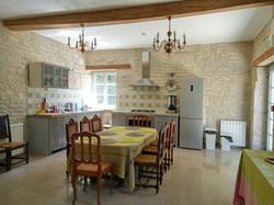 La cuisine de l'espace commun.