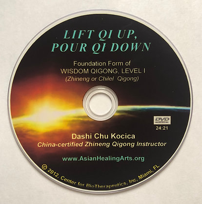 DVD:  LIFT QI UP, POUR QI DOWN- Level I, Wisdom (Zhineng) Qigong