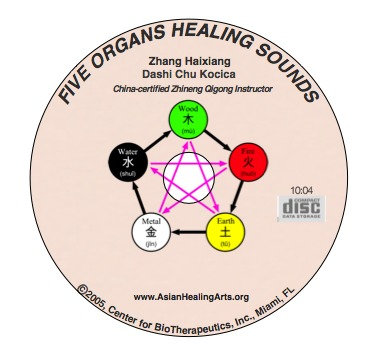 Companion Audio CD:  Five Organs Qigong Healing Sounds