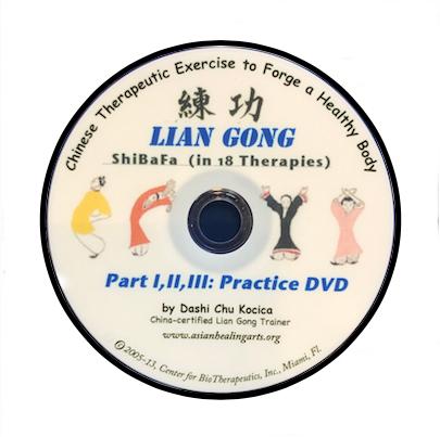 DVD:  LIAN GONG: PART I,II,III:  PRACTICE DVD