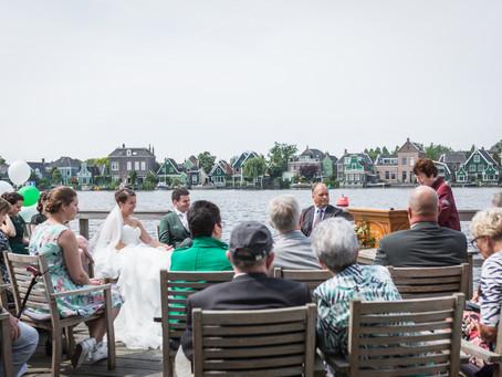 Buiten trouwen aan de Zaanse Schans
