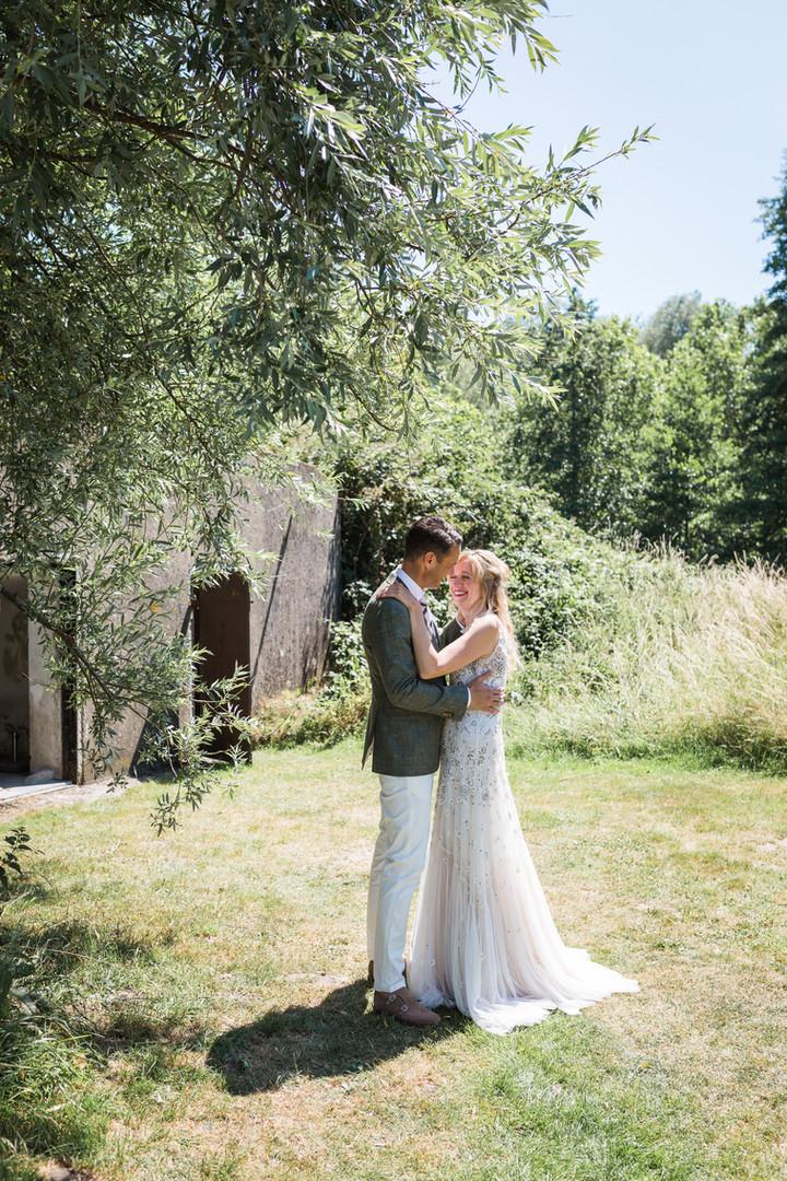 Buiten trouwen fotografie