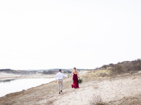 Zwangerschapsshoot in de duinen van Wassenaar