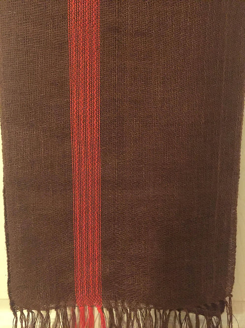 Brown and Chili Pepper Table Runner