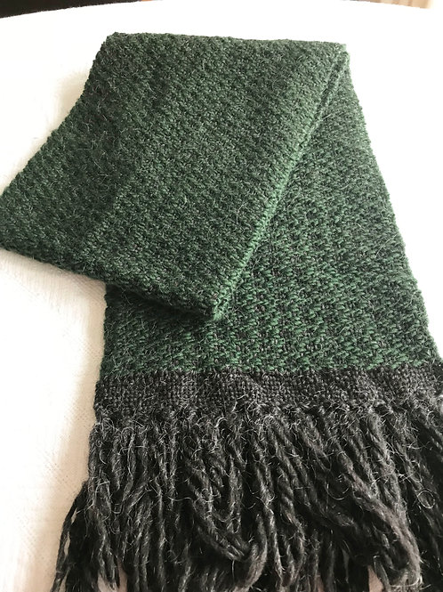 Green and Black Scarf
