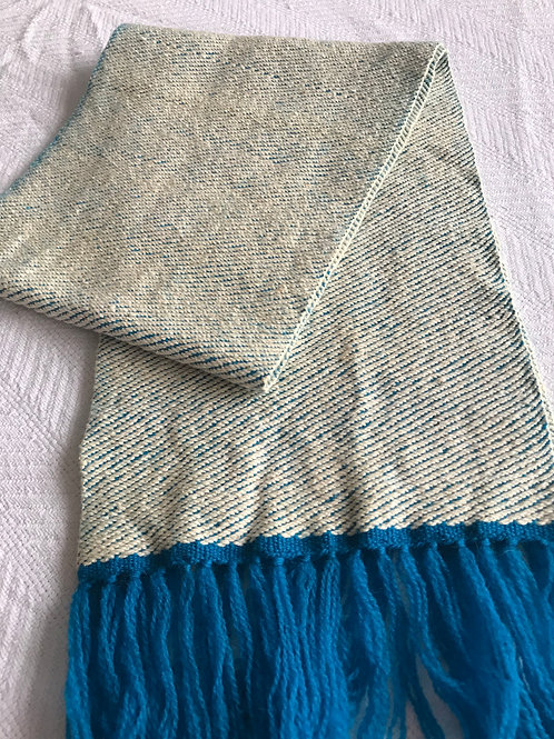 White and Bright Blue GS Scarf