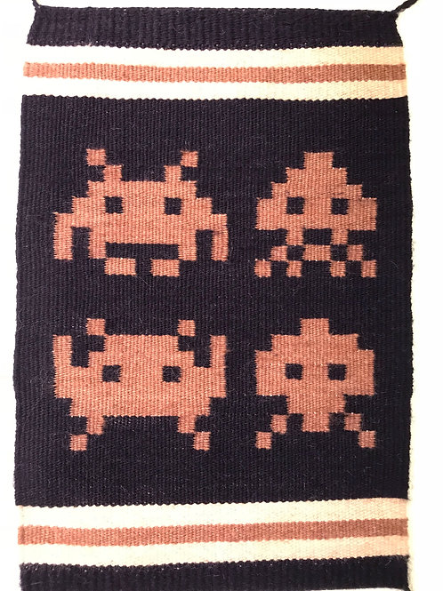 Pixel Art Banner: Space Invaders
