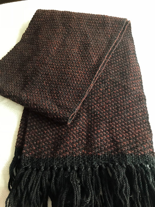Brown and Black Wool Scarf