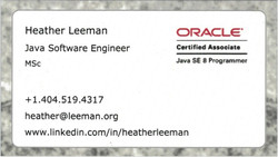 Heather Leeman, Java Software Eng.