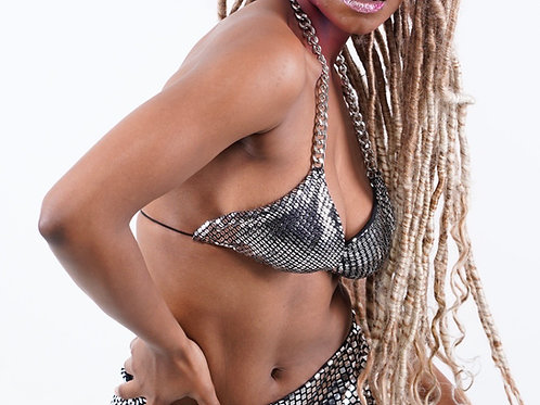 Bikini top Reina de Oro Collection NYFW 2020